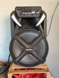 Vende se um  caixa de som e uma bicicleta