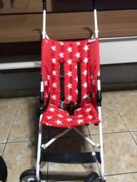 Carrinho de Bebê Passeio Umbrella Star Voyage Vermelho