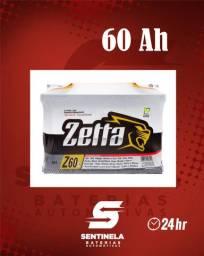 Bateria Zetta 60 Amperes - Entrega e Instalação Gratuitas 24 horas