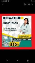 Faça já o Curso Superior Sequencial Gestão em Hospitalar.