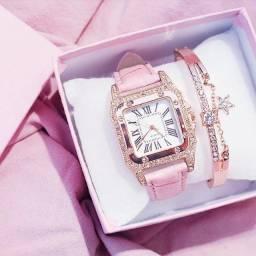 Título do anúncio: 2021 relógio feminino céu estrelado  relógio casual couro quartzo