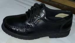 Sapatos galvani tradicional couro legítimo