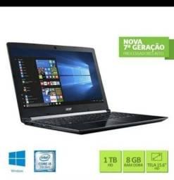 Notebook Acer i5-7200 8Ram 1T 15,6 - Usado s/ defeito.