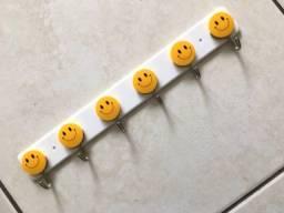 Suporte De Parede Cabide De Porta 6 Ganchos Smile Emoji