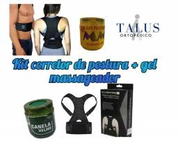 Coluna, corretor postural + gel massageador