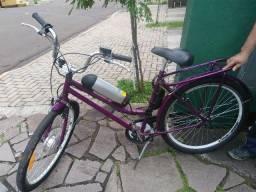 Bike Elétrica Aro 28 Uva c/ Bateria Lítio