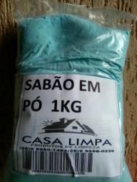 Sabão em pó 1kg $6,00