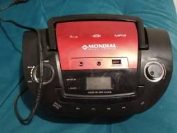 Mini Sistem Mondial MP3 , USB e Rádio