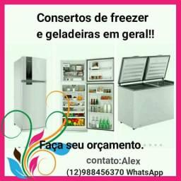 Consertos de freezer , geladeira em geral!!
