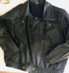 Jaqueta de motoqueiro couro