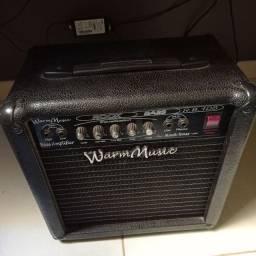 Contra baixo Giannini com capa e fio + Amplificador WarmMusic