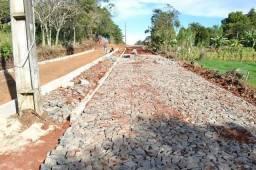 Pavimentação com pedra rústica qualidade de paralelepípedo