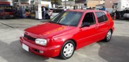 VW Golf GL 1.8 1996 Vermelho Raridade, Único Dono, Excelente Estado