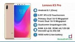 Lenovo vibe k5 pro 6GB RAM 64 ROm