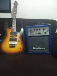 Guitarra e caixa amplificada