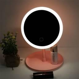 Espelho USB Recarregável Com Luz Led Grande 3 Estagio