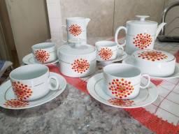 Jogo de Chá Vintage Porcelana Renner