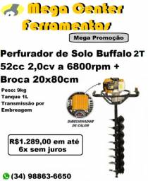 Perfurador De Solo Bfg 520 2T com Broca 20cm Buffalo