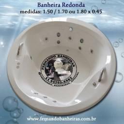 Banheira Redonda Spa Ofurô Hidromassagem Aquecedor Cromoterapia