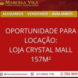Loja para locação no shopping crystal mall