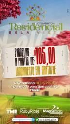 Compre seu terreno com parcelas R$ 105,00 mensais na cidade do Crato-Ce
