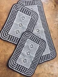Jogo de cozinha em croche 3 peças