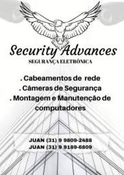 Título do anúncio: Instalação de câmeras, formatação de pc, cabeamento de internet