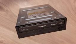 Gravadora Samsung CD e DVD sata funcionando, brinde leitora cartão memória
