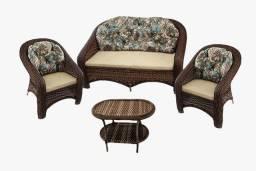 Conjuntos sofá romano em fibra sintética