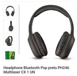 Título do anúncio: Fone de Ouvido Pop Bluetooth sem fio P2 Preto Multilaser - PH246