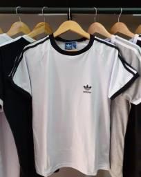 Camiseta/blusa Adidas retrô 3 Stripes branca (com etiqueta)