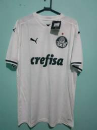 Camisa do Palmeiras Branca Masculina 2020/21 - Em Estoque