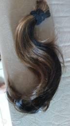 Vendo cabelo humano nunca usado uma semana não mim adatitei