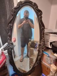 Espelho antiguidade trabalhado a mão 140x65