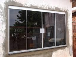 Janela de vidro temperado fume