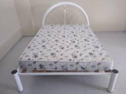 Vendo cama casal tubular + colchão Ortobom