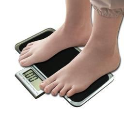 Balança Corporal Digital Vidro Temperado Preta Até 180kg,NOVA/ACEITO TROCAS