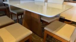 Título do anúncio: Mesa moderna de madeira e acabamento