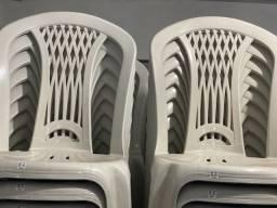 Preço de atacado Cadeira plástica nova cor branca