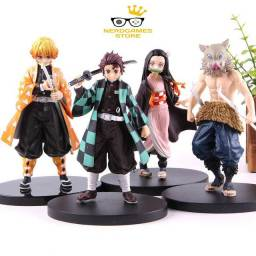 Action figure kimetsu no yaiba kit 4 personagens