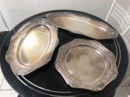 Conjunto de travessas prata 90