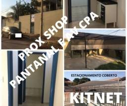 KITnet 2 peças + banheiro de 30m² prox Av CPA shop pantanal garag coberta