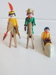 Playmobil Antigo Anos 80 Lote - Raridade
