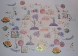 Adesivos decorativos do Pequeno Príncipe