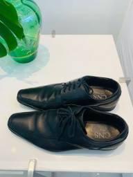 Título do anúncio: Sapato social 43 preto (couro ecológico)