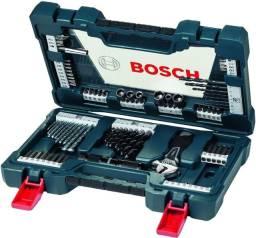 Kit Ferramentas Brocas Chaves Titânio V-line Bosch 83 Pecas
