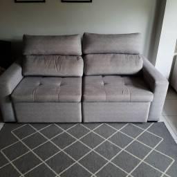 Sofá retrátil e reclinável cinza tokstok