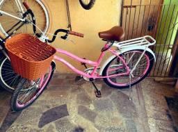 Bicicleta Retro Rosa