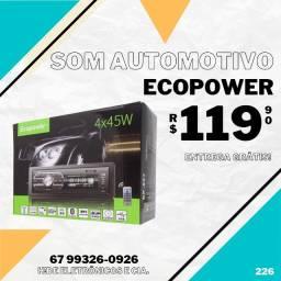Som Automotivo Ecopower Bluetooth (entrega grátis)