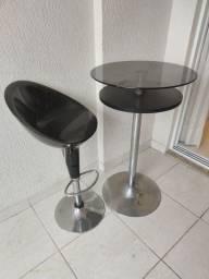 Conjunto mesa bar com 3 cadeiras ABS